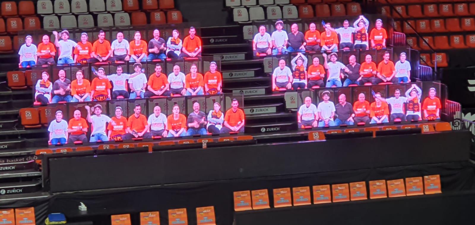Público virtual Valencia Basket